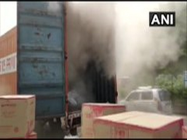 A visual of the fire incident in Mumbai. [Photo/ANI]