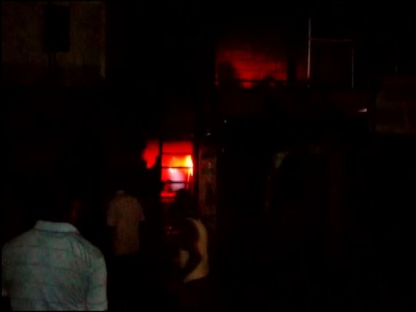 Fire broke out at a PVP pipe factory in Lucknow on Saturday [Photo/ANI]