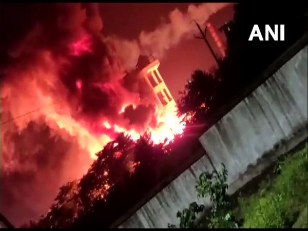 Fire broke out at Ramky CETP solvents Pvt Ltd in Vizag on Monday night. (File photo)