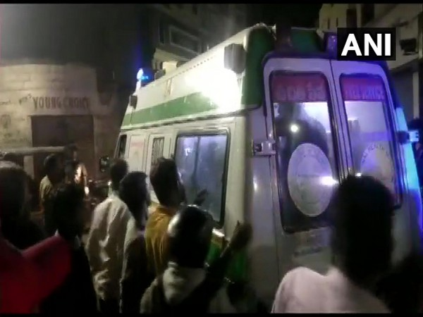 Injured being taken to hospital after cylinder explosion in Hyderabad (Photo/ANI)
