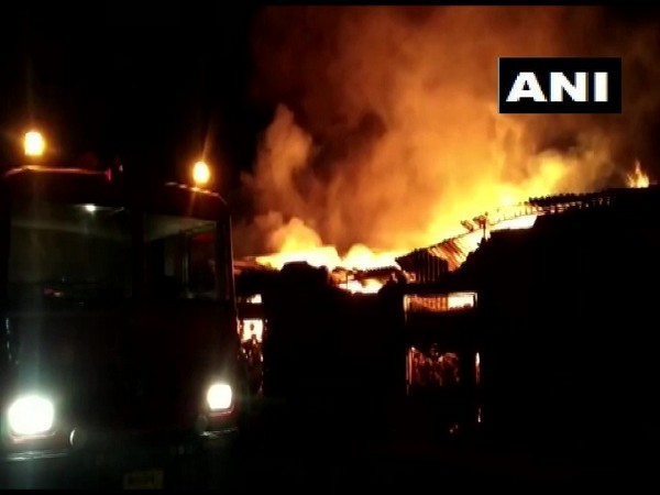 Fire breaks out at a godown in Maharashtra. Photo/ANI