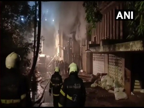 Eight fire tenders were pressed into action to control the fire. Photo/ANI