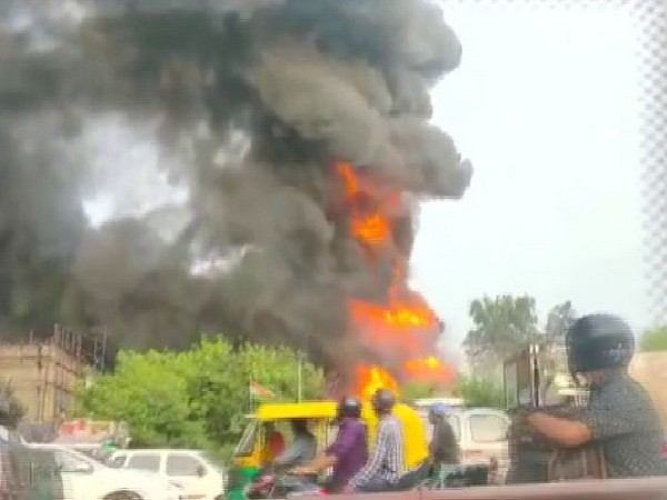 Visuals from the site of fire at Punjabi Bagh's Transport Nagar