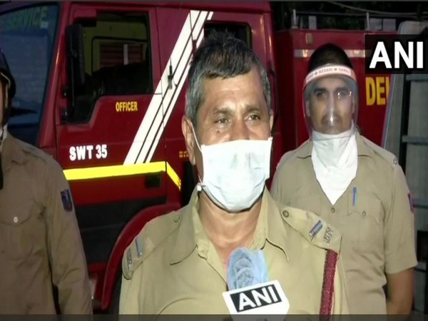 Fire Officer Satyendra Pal speaking to ANI in New Delhi on Thursday.