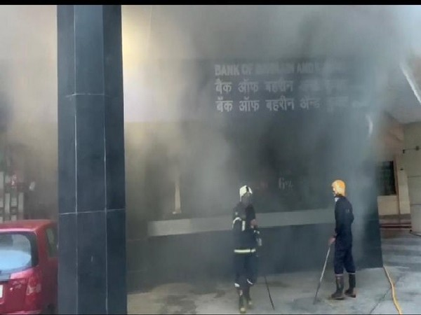 A visual from the spot of the fire incident in Mumbai.