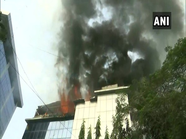 The fire had broken out on the 2nd floor of Rolta company on Thursday. Photo/ANI