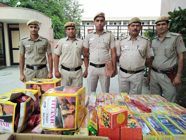 Delhi police confiscated 146 kilograms of firecrackers and arrested one person