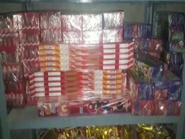 Meerut police on Wednesday recovered firecrackers worth Rs 50 lakh from Datavali village. Photo/ANI