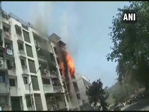 Fire broke out at a building in Andheri on Sunday afternoon