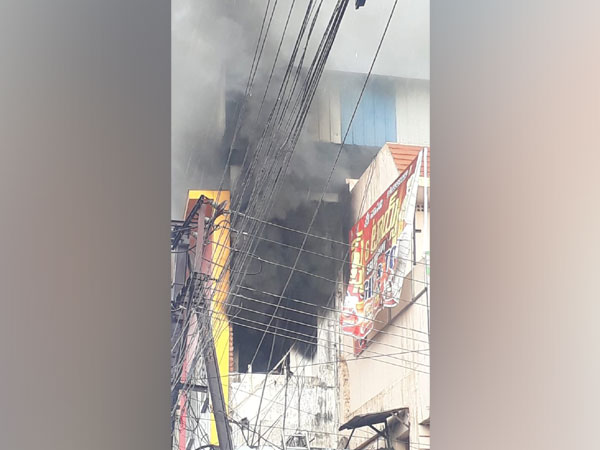 Fire broke out at photo studio in Vizianagaram on Tuesday. Photo/ANI