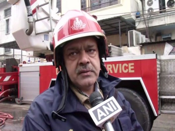 A fire official speaking to ANI in New Delhi on Thursday (photo/ANI)