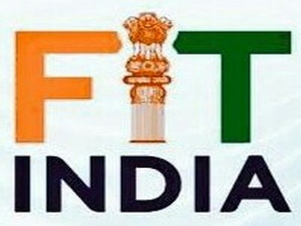 Lok Sabha Speaker Om Birla, Union Minister Kiren Rijiju and other MPs, and officials doing Yoga as part of Fit India Movement in Parliament premises on Friday. Photo/ANI