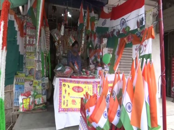 Sale of national flags has witnessed a sharp dip due to COVID restrictions. (Photo/ ANI)