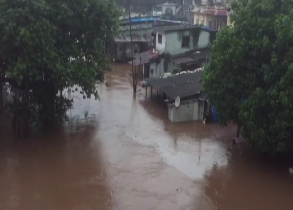 Flood-affected areas in Navsari district of Gujarat on Sunday. Photo/ANI