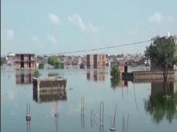 A visual of Prayagraj flood
