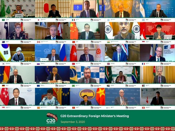 Foreign ministers of the world's 20 largest economies (G20) during a virtual meeting on Thursday.