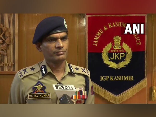 Kashmir Inspector-General of Police Vijay Kumar (Photo/ANI)