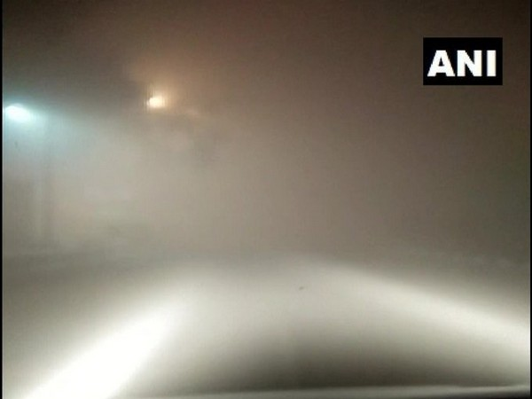 Dense fog covered cantonment area in Delhi on Monday