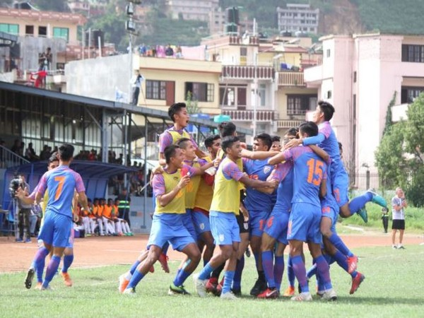 India U-18 defeated Bangladesh U-18 by 2-1 in the SAFF U-18 Championship final to lift the title. (Photo/ Indian Football Team Twitter)