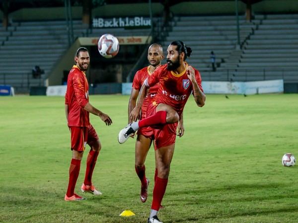 Indian players practicing for the forthcoming Intercontinental Cup (Photo/Indian Football Team Twitter)