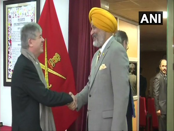 Chinar Corps commander Lt General KJS Dhillon met foreign delegates in Srinagar on Thursday.