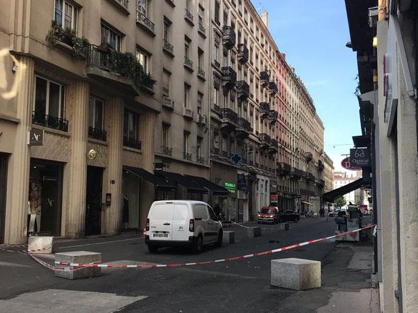 Visuals from the site of incident in Lyon, France (Photo/Préfet de région Auvergne-Rhône-Alpes et du Rhône's Twitter)