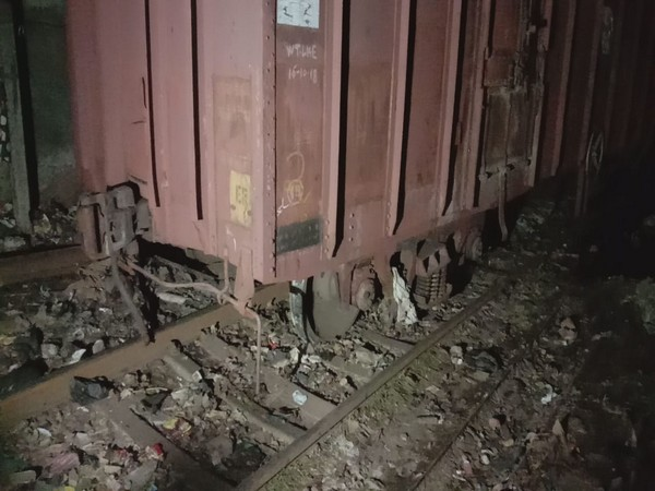 A visual from the derailed freight train near Kurla railway station in Mumbai. Photo/ANI