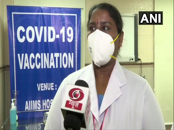 Sister P Nivedita, the nurse from Puducherry who gave PM Modi the first shot of the COVID-19 vaccine. (Photo/ANI)