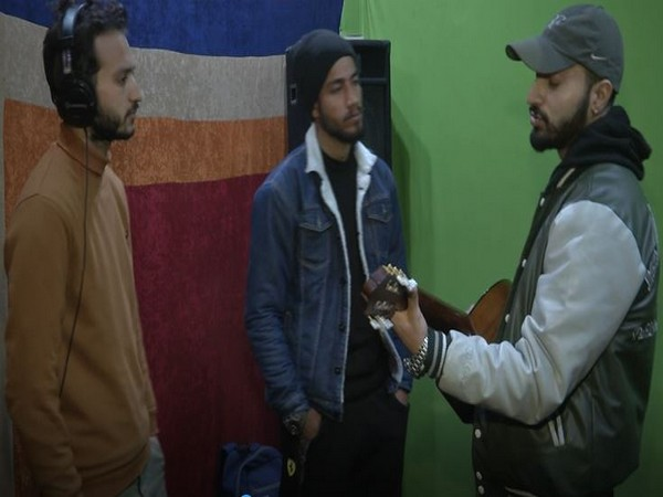 Youngsters at a jamming session in Kashmir