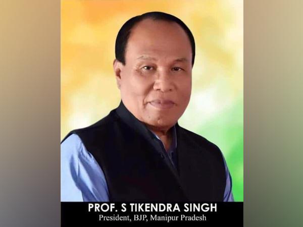 Late Manipur BJP chief Tikendra Singh (file pic/ANI).