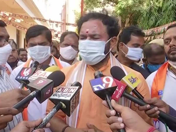 MoS Home G Kishan Reddy speaking to media on Tuesday.