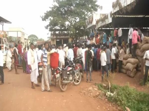 Visual from protest in Gadag, Karnataka.
