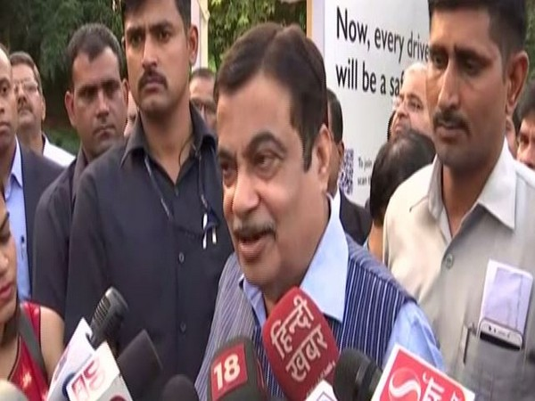 Union Minister Nitin Gadkari speaking to media persons in New Delhi on Thursday. (Photo/ANI)
