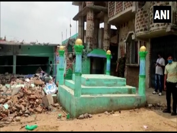 A visual from the site of the blast (ANI).