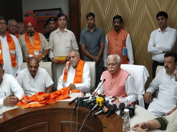 Gopichand Gahlot joins Bharatiya Janata Party on Saturday in the presence of CM Manohar Lal Khattar