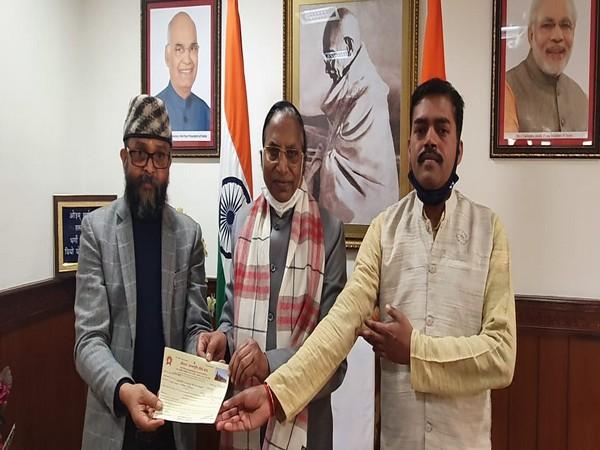 Sikkim governor Ganga Prasad during meeting with members of Shri Ram Janmbhoomi Teerth Kshetra.