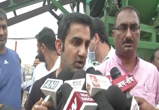 BJP MP Gautam Gambhir speaking to media persons in New Delhi on Thursday. Photo/ANI