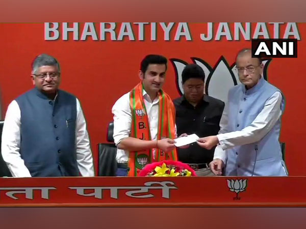 Former Indian cricketer Gautam Gambhir joining BJP on Friday