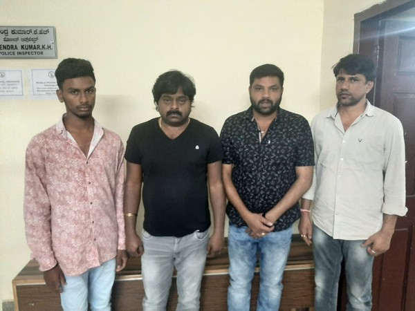 The accused have been identified as Satish, Ramesh, Nagesh and Chandru. Photo/ANI