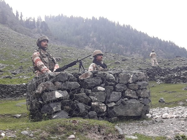 Visuals of ITBP troops deployed in security of Amarnath Yatra.
