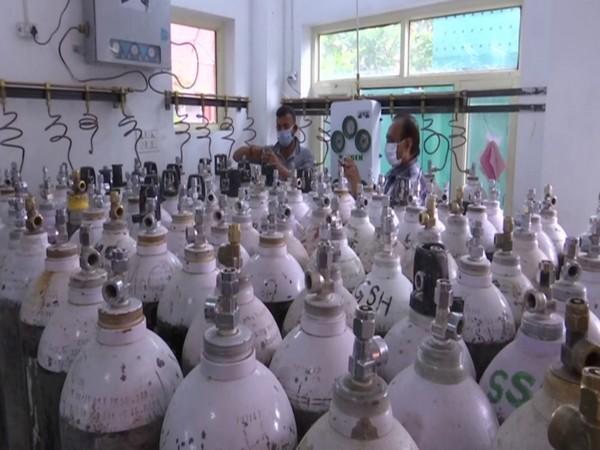 Oxygen generation plant at Government Hospital Gandhi Nagar, Jammu (Photo/ANI)