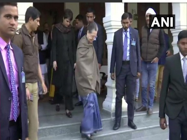 Congress president Sonia Gandhi and Priyanka Gandhi Vadra visited the house of their party's former MLA Ajay Pal Singh in Rae Bareli on Wednesday. Photo/ANI
