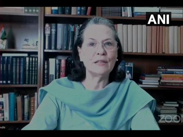Congress interim President Sonia Gandhi. [Photo/ANI]