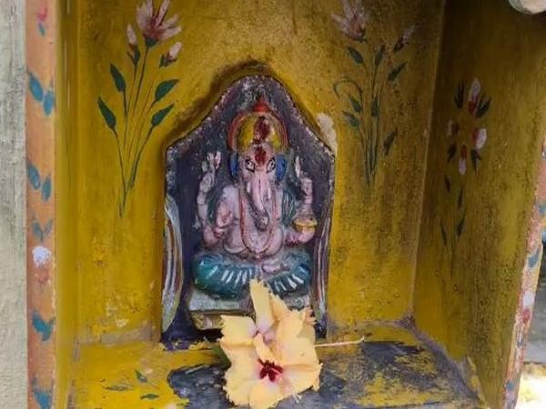 Miscreants desecrate at a Ganesh statue in East Godavari on Saturday (Photo/ANI)