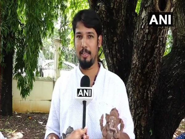Nithin Vaja talking to ANI at Mangaluru on Thursday