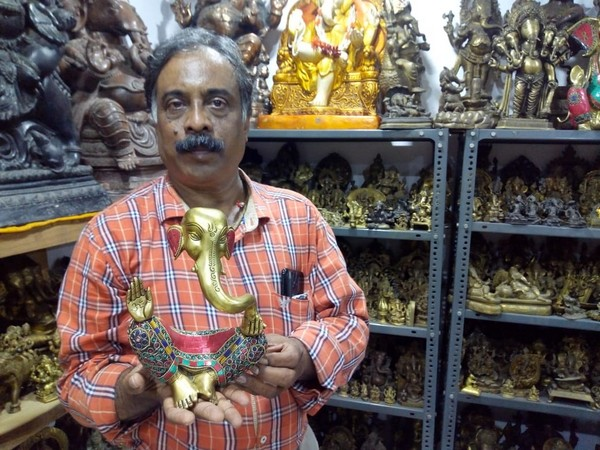 Pabsetti Shekhar claims to  have collection of over 19,000 Ganesh Idols