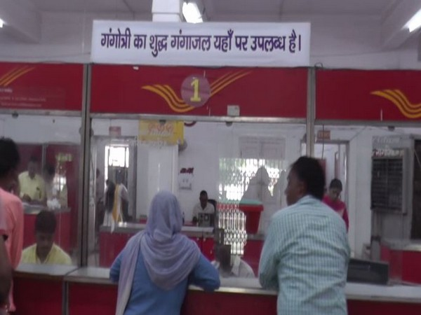 Post Office seeling bottled holy Ganga water in Rohtak, Haryana on Tuesday. Photo/ANI