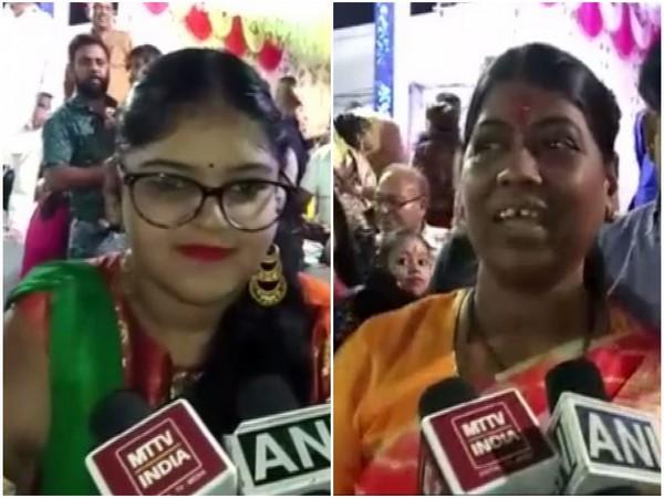 Anushka Rathore (L) and Ajmer (South) MLA Anita Bhadel (R). Photo/ANI