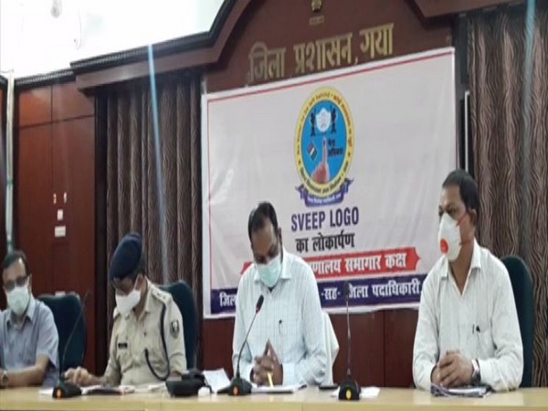 Officials of Gaya administration during a press conference. (Photo/ANI)
