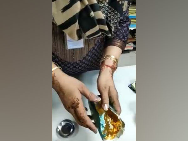 Gold hidden in deo bottle. (Photo/ANI)